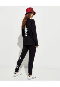 Czarna bluzka Kenzo długa, z nadrukiem