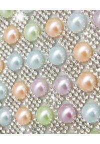 SOPHIA WEBSTER - Kryształowa kopertówka Clara. Kolor: srebrny. Wzór: aplikacja. Styl: wizytowy, klasyczny