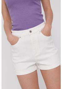 medicine - Medicine - Szorty jeansowe Denim. Okazja: na co dzień. Kolor: biały. Materiał: jeans, denim. Styl: casual