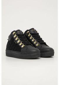 Czarne buty sportowe GANT z cholewką, na sznurówki