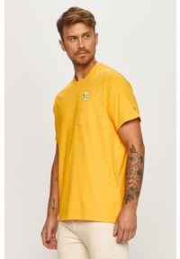 Pomarańczowy t-shirt Levi's® biznesowy, w kolorowe wzory, z okrągłym kołnierzem