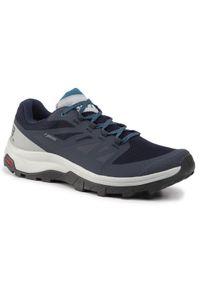 Niebieskie buty trekkingowe salomon Gore-Tex, trekkingowe