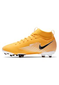Buty piłkarskie dla dzieci korki Nike Mercurial Superfly 7 Academy MG AT8120. Materiał: syntetyk, skóra. Szerokość cholewki: normalna. Sport: piłka nożna