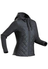 quechua - Sweter NH100 Hybride damski. Kolor: czarny, wielokolorowy, szary. Materiał: materiał, dzianina, tkanina, poliester, włókno, polar