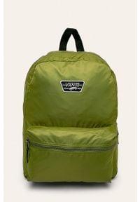 Vans - Plecak. Kolor: oliwkowy. Materiał: materiał, nylon, poliester. Wzór: aplikacja, paski #1