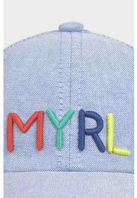 Niebieska czapka z daszkiem Mayoral z aplikacjami