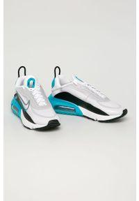 Białe sneakersy Nike Sportswear na sznurówki, z okrągłym noskiem