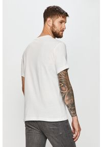 Biały t-shirt Champion na co dzień, z okrągłym kołnierzem