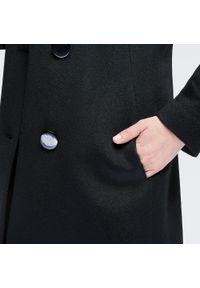 Czarny płaszcz Wittchen casualowy, na co dzień