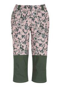 Cellbes Spodnie rekreacyjne długości 3/4 różowy we wzory female różowy/ze wzorem 48. Okazja: do pracy, na spacer. Kolor: różowy. Materiał: tkanina, dzianina, guma. Wzór: aplikacja. Styl: wakacyjny