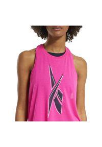 Koszulka damska Reebok Workout Ready Supremium FU2320. Materiał: materiał, skóra, tkanina, poliester, wiskoza. Długość rękawa: bez rękawów. Sport: fitness
