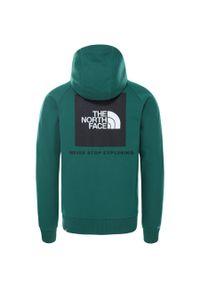Zielona bluza The North Face raglanowy rękaw