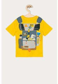 Żółty t-shirt GAP casualowy, na co dzień