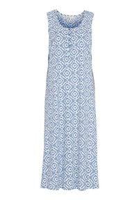 Cellbes Długa koszula nocna we wzory female ze wzorem 58/60. Materiał: bawełna. Długość: długie