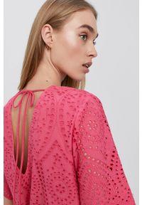 Y.A.S - Kombinezon. Okazja: na co dzień. Kolor: różowy. Materiał: bawełna, tkanina. Styl: casual