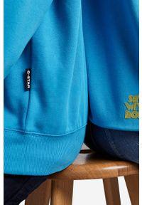 G-Star RAW - G-Star Raw - Bluza x Snoop Dogg. Okazja: na co dzień. Typ kołnierza: kaptur. Kolor: niebieski. Materiał: poliester. Wzór: nadruk. Styl: casual