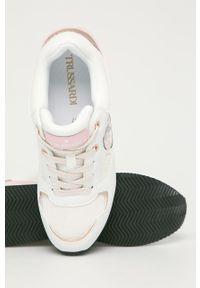 Różowe buty sportowe Trussardi Jeans na obcasie, na średnim obcasie