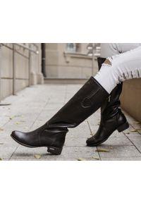 Czarne kozaki Zapato z aplikacjami, na zimę
