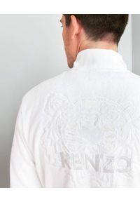 KENZO HOME - Szlafrok Iconic z bawełny. Kolor: biały. Materiał: bawełna. Wzór: haft