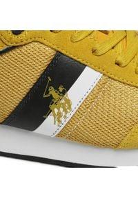 U.S. Polo Assn - Sneakersy U.S. POLO ASSN. - Austen FERRY4122S0/TS1 Yel. Okazja: na spacer, na co dzień. Kolor: żółty. Materiał: skóra, materiał, zamsz. Szerokość cholewki: normalna. Styl: sportowy, casual
