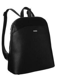 DAVID JONES - Plecak damski czarny David Jones 6509-1 BLACK. Kolor: czarny. Materiał: skóra ekologiczna