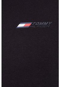 TOMMY HILFIGER - Tommy Hilfiger - Bluza. Okazja: na co dzień. Kolor: czarny. Materiał: dzianina. Styl: casual