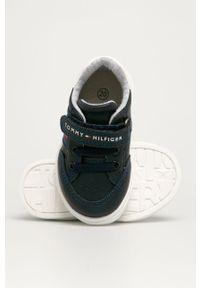 Niebieskie buty sportowe TOMMY HILFIGER z okrągłym noskiem, na rzepy, z cholewką #4