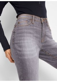 Szare jeansy bonprix