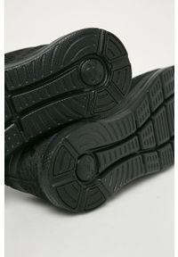 Czarne buty sportowe Under Armour do biegania, z cholewką, na sznurówki