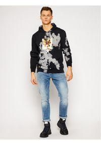 Czarna bluza HUF rockowa
