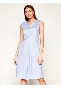 Niebieska sukienka Manila Grace casualowa, na co dzień