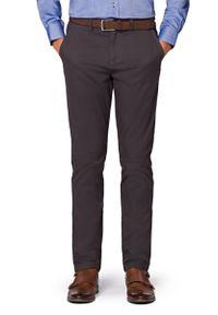 Szare spodnie Lancerto casualowe, w kolorowe wzory, na co dzień