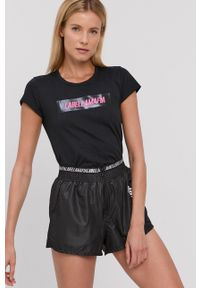 LABELLAMAFIA - LaBellaMafia - T-shirt bawełniany. Okazja: na co dzień. Kolor: czarny. Materiał: bawełna. Wzór: nadruk. Styl: casual