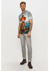 Wielokolorowy t-shirt Desigual na co dzień, casualowy
