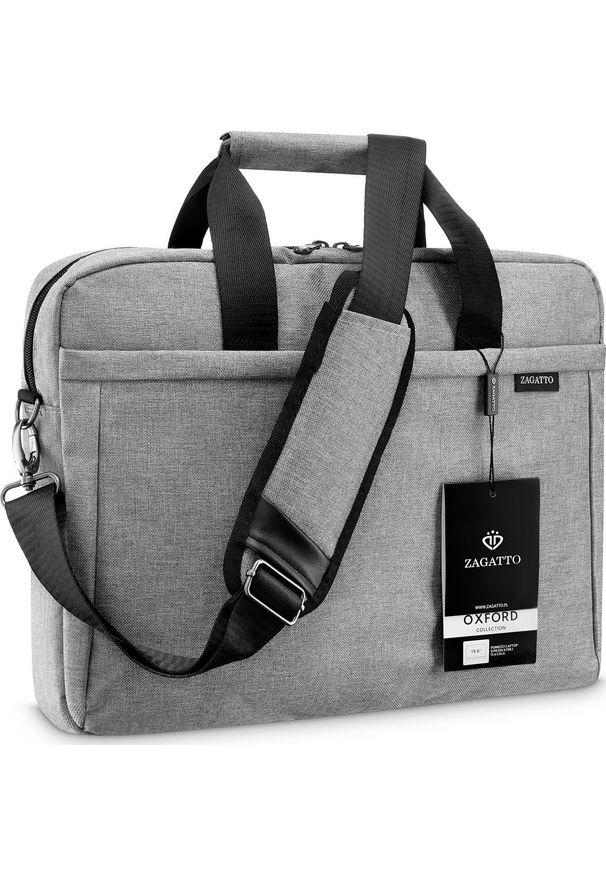 Szara torba na laptopa Zagatto