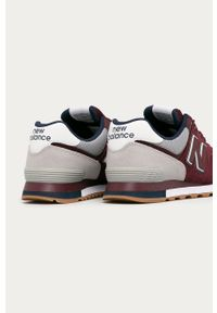 Czerwone sneakersy New Balance z okrągłym noskiem, z cholewką