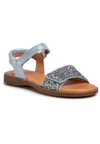 Niebieskie sandały Froddo z aplikacjami