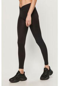 Czarne legginsy Only Play z podwyższonym stanem, gładkie