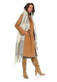 TOP SECRET - Dzianinowa spódnica ołówkowa. Okazja: na co dzień. Kolor: szary. Materiał: dzianina. Sezon: zima. Styl: elegancki, casual