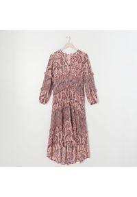 Sinsay - Sukienka z falbankami - Wielobarwny. Typ kołnierza: kołnierz z falbankami
