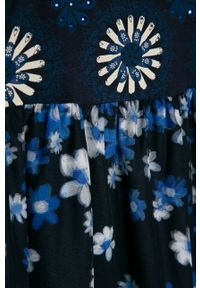 Niebieska sukienka Desigual na ramiączkach, rozkloszowana, mini