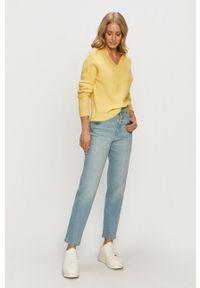 Jacqueline de Yong - Sweter. Okazja: na co dzień. Kolor: żółty. Długość rękawa: długi rękaw. Długość: długie. Styl: casual