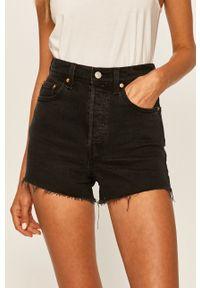 Levi's® - Levi's - Szorty jeansowe. Okazja: na spotkanie biznesowe. Kolor: czarny. Materiał: jeans. Styl: biznesowy
