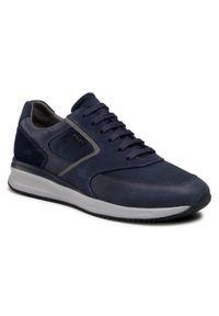 Geox - Sneakersy GEOX - U Dennie A U740GA 0CL11 C4458 Navy/Denim. Okazja: na co dzień. Kolor: niebieski. Materiał: zamsz, materiał, skóra ekologiczna. Szerokość cholewki: normalna. Styl: casual, elegancki