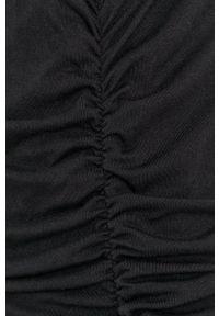 DKNY - Dkny - Sukienka. Okazja: na co dzień. Kolor: czarny. Materiał: dzianina. Wzór: gładki. Typ sukienki: proste. Styl: casual
