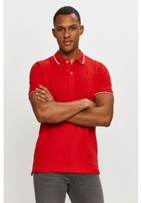Czerwona koszulka polo Geox krótka, na co dzień, polo