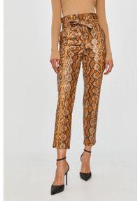 Spodnie materiałowe TwinSet z podwyższonym stanem, casualowe