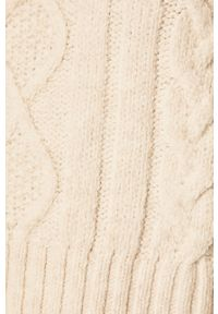Biały sweter ANSWEAR z okrągłym kołnierzem