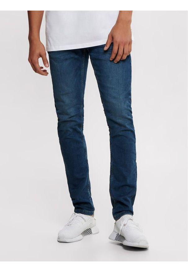 Only & Sons - ONLY & SONS Jeansy Loom 22008472 Granatowy Slim Fit. Kolor: niebieski