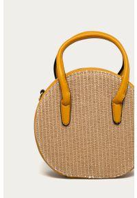 Żółta torba plażowa ANSWEAR na ramię, wakacyjna, mała